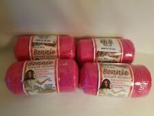 Lot of 4 rolls of Azalea Pink 4mm Bonnie Braid Braided Macrame Craft Cord 400yds