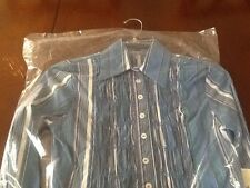 Shirt Marcelo Soltan Blue Amazing Size S New With Tag Must