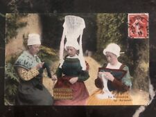 1918 France RPPC Postcard Cover To Victoria Canada Normandy Woman's Working