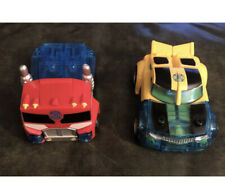 Transformer Toy Lot Police Car And Fire Truck Good Condition 5 Inches