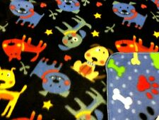Dog Blanket Dogs Stars Bones Can Be Personalized 28x22