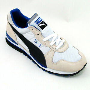 Puma Sneaker TX-3 weiss/blau Größe 40 1/2 Leder/Messh