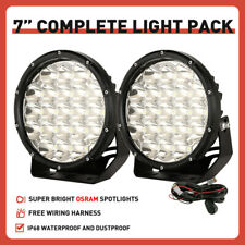 "NEW 2"" 7inch Black OSRAM LED Driving Spot Lights Work SUV Offroad 4x4 Headlights"