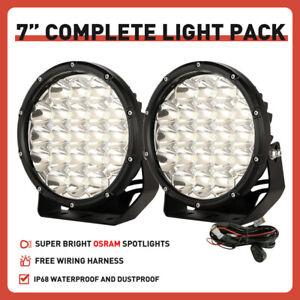 "NEW 2"" 7inch Black OSRAM LED Driving Spot Lights Work SUV Offroad 4x4 Headlights"