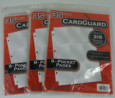 Lot of (3) 35 Pack CardGuard 9-Pocket Pages Holds a Total of 945 Cards