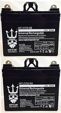 12V 35Ah U1 Deep Cycle AGM Solar Battery Also Replaces 33Ah, 34Ah, 36Ah - 2 Pack