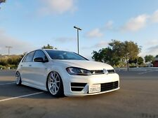 VW MK7 Golf-R Custom No Drill Front License Plate Mount - Does not use Tow Hook