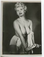 BARBARA KING Burlesque Nude Model 1950 Original Nude Vintage Pinup Photo  B4993