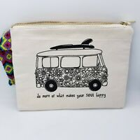 New Natural Life Wristlet Do More Of What Makes Your Soul Happy Zippered Bag
