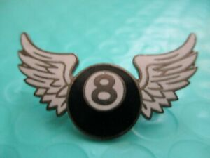 Unknown vintage 8 BALL  WINGS MILITARY? PIN CHERON ROYER OF PARIS