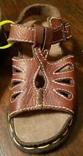New Dr Doc Martens Tear Drop Sandals Brown 1424 Leather UK Child 13 US Youth 1