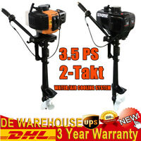2-Stroke 3.5HP Heavy Duty Outboard Motor Boat Engine Air & Water Cooling System