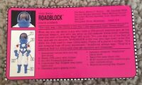 Gi Joe Roadblock Feile Karte Vintage 1993 Sarah Actionfigur