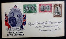 CANADA 1939 ROYAL TRAIN COVER FIRST DAY FULL SET PRINCESS MARGARET & PRINCESS EL