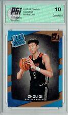 Zhou Qi 2017-18 Donruss #151 NBA Rated Rookie Card PGI 10