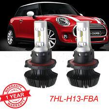 Pair  H13 9008 LED Headlight Conversion Kit 60w  6500K White Light Bulbs
