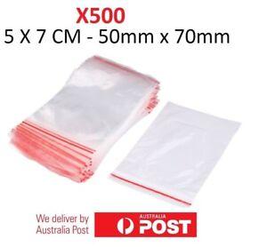 500x Small Zip Lock Plastic Bags  Resealable Zipper New 5cmX7cm WHOLESALE BULK