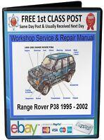 Range Rover P38 Service & Repair Workshop Manual 1995+ On CD