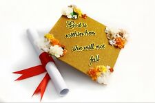 Handmade Grad Cap Decorations Cap Topper God is Within Her She Will Not Fall