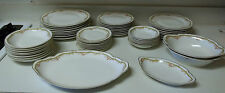 Theodore Haviland Limoges France 50 Piece Set Pink Roses Gold Trim Free Shipping