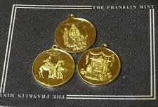 Vintage Set Of 3 1988 Christmas Coins / Pendants By The Franklin Mint