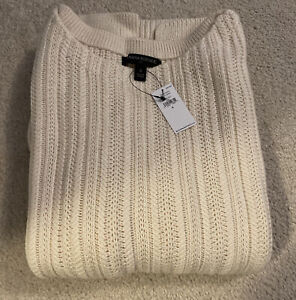 NEW Banana Republic Factory Women's Boat Neck Sweater Off-White Size Small NWT