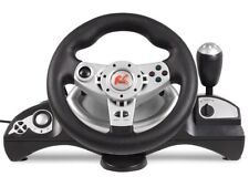 Racing Steering Wheel + Pedals Vibration Force Feedback NanoRS 270° PC PS3 UK