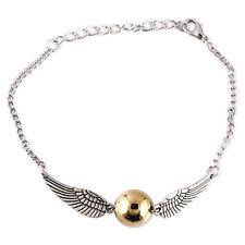 Harry Potter Bracelet Wings Golden Symbol Wrist Movie Inspired Snitch