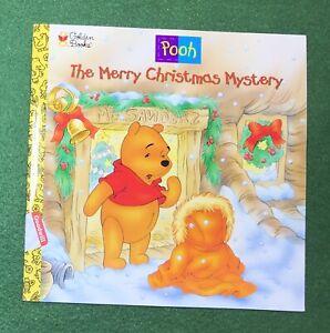 Winnie the Pooh MERRY CHRISTMAS MYSTERY Golden Books Walt Disney AA Milne 1998