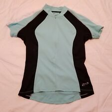 Terry Cycling Jersey Women's Short Sleeve Size Medium Half  Zip 2 Back Pockets