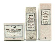 Fresh Rose Face Mask, Eye Serum, Rose Floral Toner Skincare Set A $55 Value!