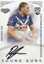 2017 NRL ELITE YOUNG GUNS SIGNATURE CARD YG3 BRENKO LEE CANTERBURY BULLDOGS #088