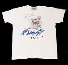 DOM REBEL Herren T-Shirt weiß white PUSSY TIME Größe S M