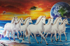 Home Decor Poster 7 Horses Running Lucky Vastu Success Wall Picture