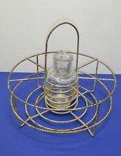 Antique wire metal bottle holder Country Living decorating flowers decor vintage