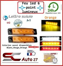 Feu LED 12V très bonne luminescence pour gabarit ou clignotant X2 PCS ORANGE