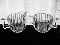 Jeannette Glass Clear National Creamer Pitcher & Sugar Bowl Set