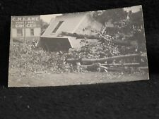antique 1917 Battle Creek MI RPPC Cyclone touchdown tornado twister grocery stor
