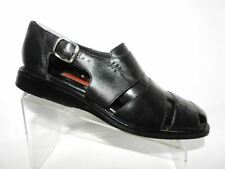 Cole Haan Size 12 M Black Leather Fisherman Buckle Comfort Sandals Mens Shoes