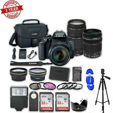 Canon EOS Rebel T7i  DSLR w/ 18-135mm f/3.5-5.6 Is STM Lens + Canon EF 75-300mm