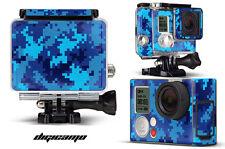 Skin Stickers for GoPro Hero 3+ Camera & Case Decal HERO3+ Go Pro DIGI CAMO BLUE