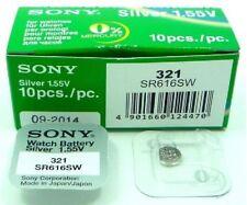 Pila Batería Botón Blíster oxido plata original Sony 321 1.55v Sr616sw