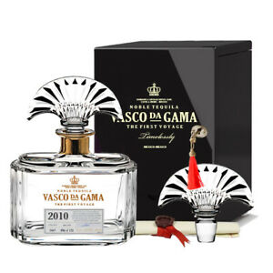 Vasco da Gama Timelessly Black Edition 70cl 40% Crystal Decanter Tequila Mexico