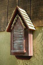 """Bat Houses - """"Whitechapel"""" Bat House - Weathered Redwood Finish - Garden Decor"""
