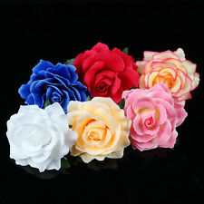 "4"" Artificial Rose Large Fabric Rose Flower Heads For Wedding Home Decor 50/100P"
