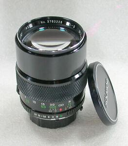 Soligor I-S 135mm F2.5 Manual Focus Telephoto Lens, Minolta MD Fit No. 3783228