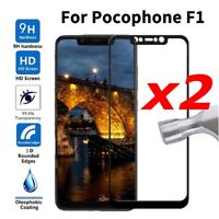New Poco F1 Full Cover Tempered Glass For Xiaomi pocophone F1 Screen Protector&