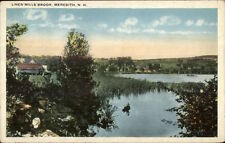 Meredith NH Linen Mills Brook c1920 Postcard