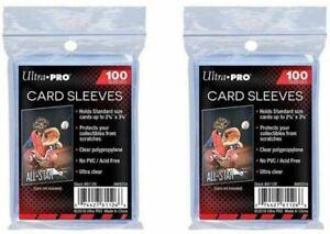 200 Ultra Pro Soft Sleeves Kartenhüllen für MTG Magic - Pokemon - Match Attax