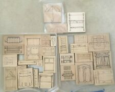 Table Furniture by Stampourri dresser stove armoire shutter rubber stamps 3D Lot